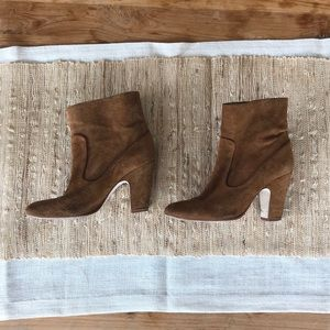 Zara brown booties